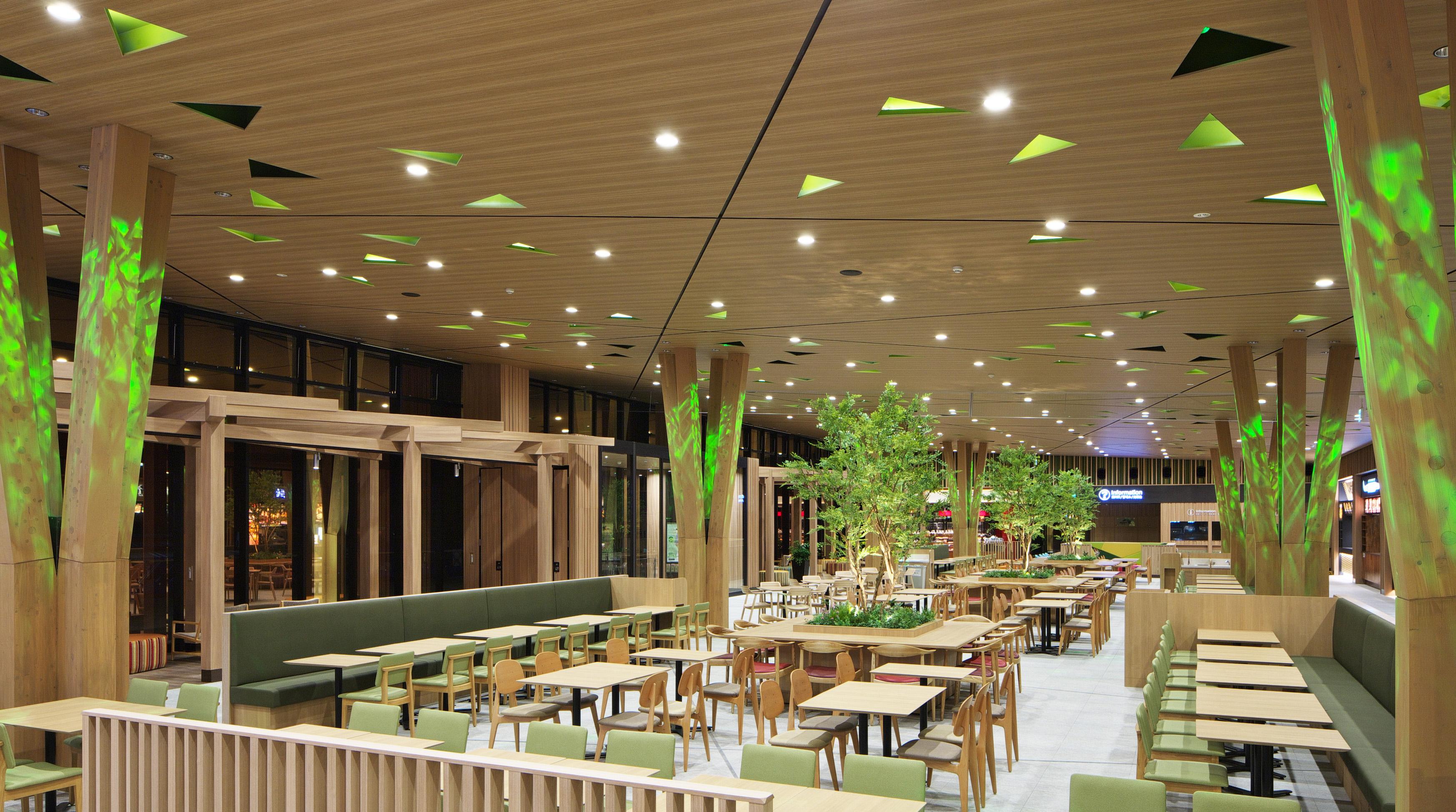 常磐自動車道 守谷SA(上り線)商業施設新築工事(内観)イメージ